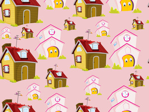Abstract House Pattern Background