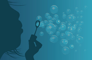 Abstract Illustration Of A Background With Bubbles