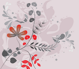 Abstract Illustration Of A Background With Floral And Grunge