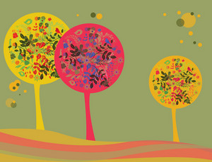 Abstract Illustration Of A Background With Trees