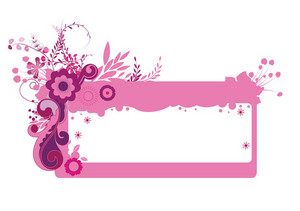 Abstract Illustration Of A Floral Frame With Grunge