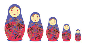 Abstract Illustration Of Beautiful Russian Doll