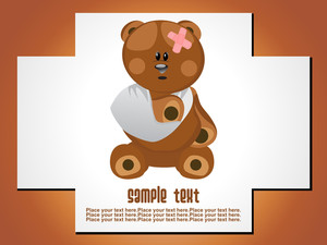 Abstract Injurd Bear Illustration