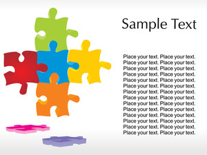 Abstract Join Puzzle Background