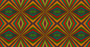 Abstract Kaleidoscope Retro Graphic