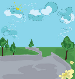 Abstract Landscape Vector Illustration