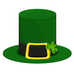 Abstract Leprechaun Hat With Clover