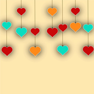 Abstract Love Concept