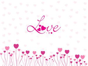 Abstract Love Design Illustration