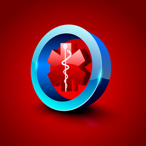 Abstract Medical Background With 3d Caduceus Medical Symbol.
