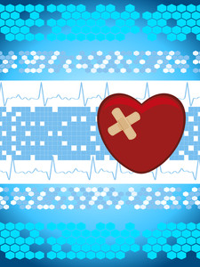Abstract Medical Background With Bandage Heart