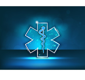 Abstract Medical Background With Caduceus Medical Symbol