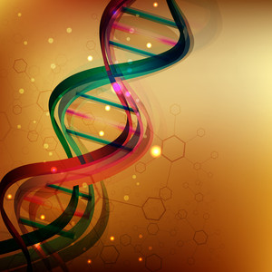 Abstract Medical Background With Colorful Dna.