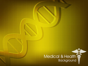 Abstract Medical Background With Colorful Dna
