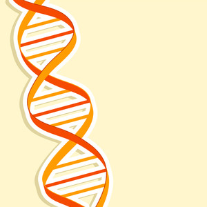Abstract Medical Concept With Dna On Abstract Background.