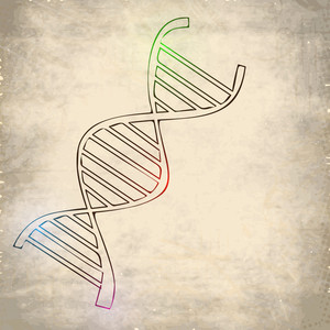 Abstract Medical Concept With Dna On Grungy Brown Background.