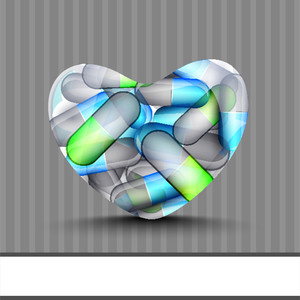Abstract Medical Concept With Heart Shape