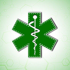 Abstract Medical Concept With Medical Symbol In Green Color.