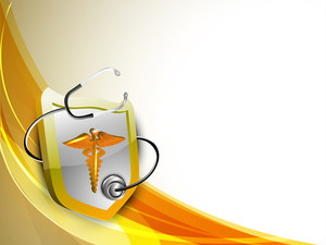 Abstract Medical Concept With Medical Symbol On Brown Waves Background.