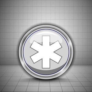 Abstract Medical Concept With Medical Symbol On Grey Background.