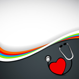 Abstract Medical Concept With Red Heart