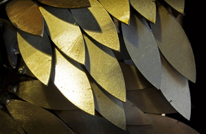 Abstract Metal Pattern Texture