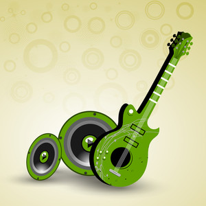 Abstract music background guitar and sounds