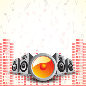 Abstract music background with loud speakers and high volumn