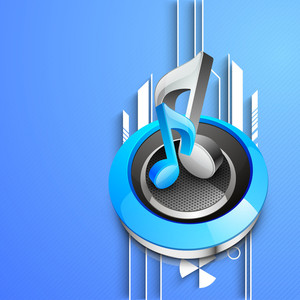 Abstract Musical Background With Musical Notes