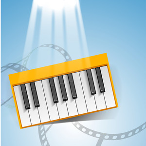 Abstract musical background with piano .