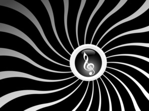 Abstract Musical Concept In Black And White