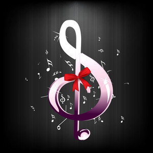 Abstract musical concept with music symbol