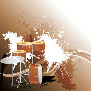 Abstract musical concept with musical instrument