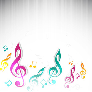 Abstract Musical Note