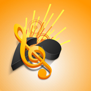 Abstract Musical Notes Background