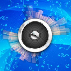 Abstract Musical Party Background With Music Notes