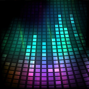 Abstract Musical Party Background