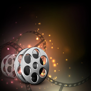 Abstract Musical party concept on shiny background.
