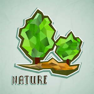 Abstract Natural Products Icons With Text Go Green