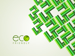 Abstract Nature Bacground With Text Eco Friendly
