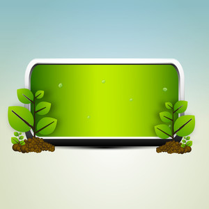 Abstract Nature Background With Eco House