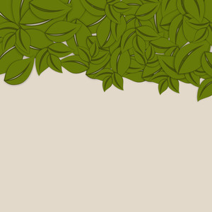 Abstract Nature Background With Green Leaves And Text Available For Your Text
