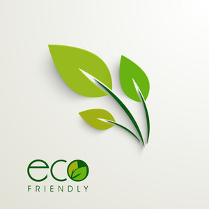 Abstract Nature Background With Green Leaves And Text Eco Friendly