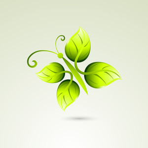 Abstract Nature Background With Small Plant And Space For Your Text
