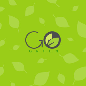 Abstract Nature Background With Text Go Green