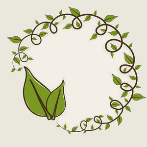 Abstract Nature Concept With Green Leaves And Space For Your Text