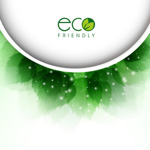 Abstract Nature Concept With Shiny Green Green Leaves And Space For Your Text