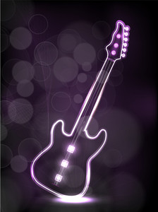 Abstract Neon Guitar.