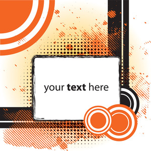 Abstract Orange Background With Space For Text