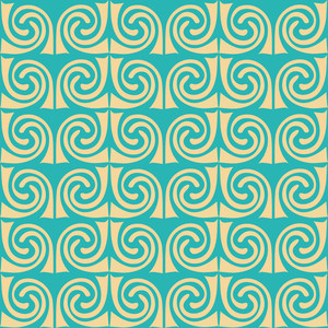 Abstract Ornament. Waves Mosaic Seamless Texture
